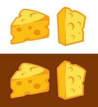 Vector Cheese Icon Illustratio...