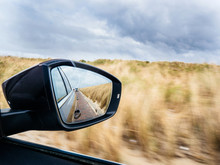 Rear View-mirror Of A Car With...