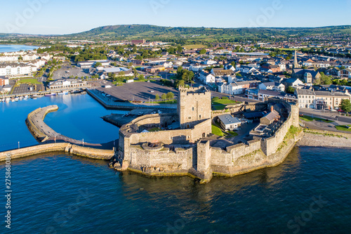 Medieval castle in Carrickfergus near Belfast Canvas Print