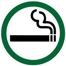Smoking Sign On White Background
