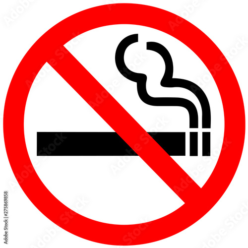 Fototapeta No smoking sign on white background