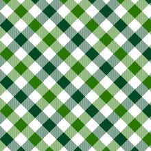 Green Gingham Pattern. Texture...