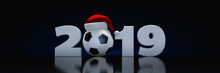Christmas 2019 Concept. Soccer...