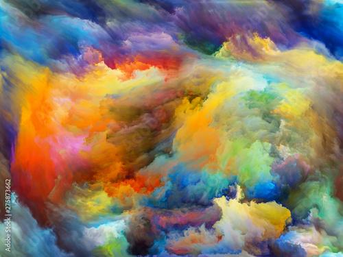 Fototapeta Inner Life of Paint obraz na płótnie