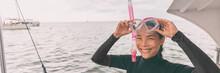 Snorkel Mask Asian Woman Touri...