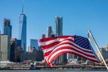 New York City Skyline And Amer...