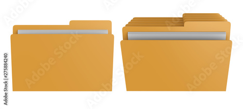 Fotografie, Obraz file or folder isolated