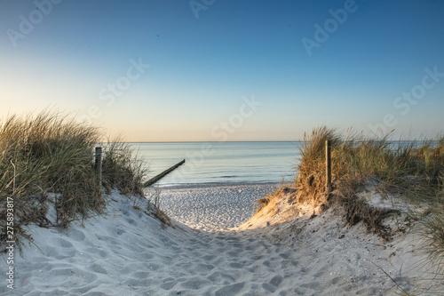Canvas Prints North Sea strandzugang