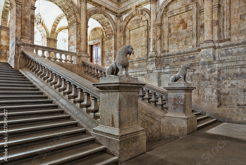 The main staircase of the University of Salamanca