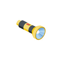 Torch Lamp Vector 3d Isometric...