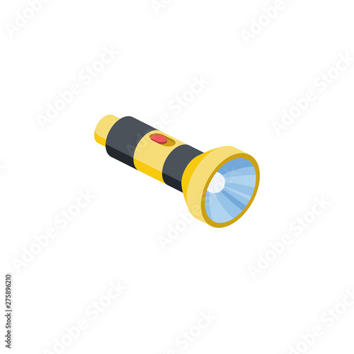 Obraz Torch lamp vector 3d isometric color icon new flat style. Creative illustration, idea for infographics. - fototapety do salonu