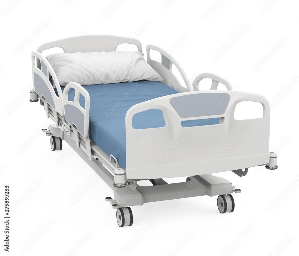 Fototapety, obrazy: Hospital Bed Isolated