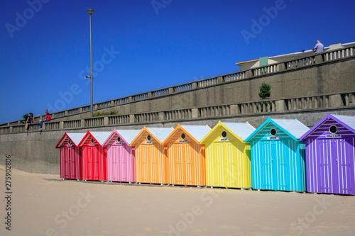 Fotografía Cabanes de plage sur la cote d'opale