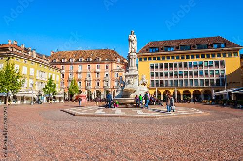 Waltherplatz main square in Bolzano