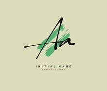 A AA Beauty Vector Initial Logo, Handwriting Logo Of Initial Signature, Wedding, Fashion, Jewerly, Boutique, Floral And Botanical With Creative Template For Any Company Or Business.