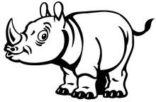 Cartoon Rhino. Baby Rhinoceros...