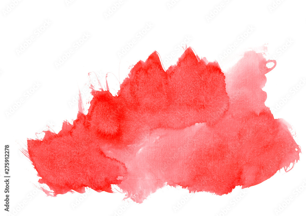 Fototapeta watercolor abstract strokes with red shades.High resolution banner