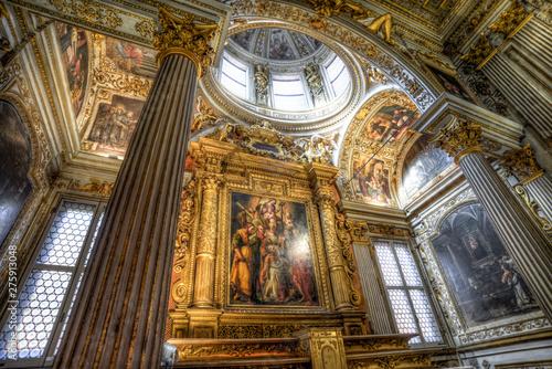 Valokuva  Santuario di Santa Maria della Vita coated of gold in Bologna Italy