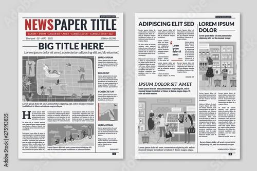 Fotografia Newspaper layout