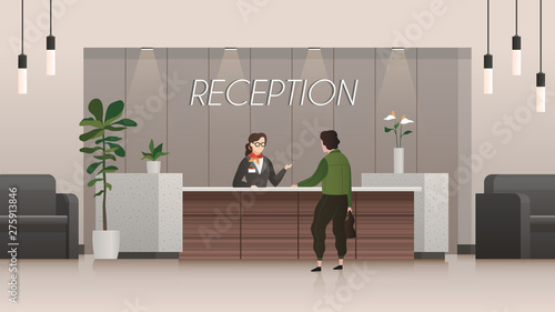 Reception service Fototapet