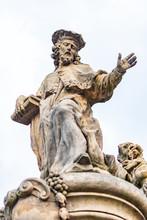 The Baroque Statues On The Charles Bridge, Prague, Czech Republic