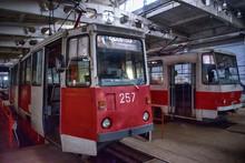 Tram Tatra KTM And Tatra On Repair In The Lipetsk Depot