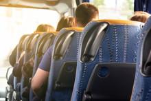 A Row Of Comfortable Bus Seats...