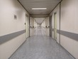 Empty modern and clean hospital corridor