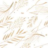 Akwarela ilustracja, wzór. Motyw lasu Gałąź i liście na białym tle. - 275928004