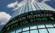Information Technology IT Stock Market Industry Sector Wall Street Buildings 3d Illustration