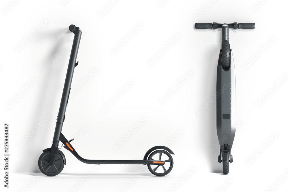 Fototapety, obrazy: Electric scooter on white background. eco alternative transport. 3d rendering