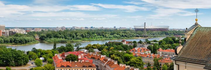 FototapetaWarsaw Panorama Along Vistula River In Poland