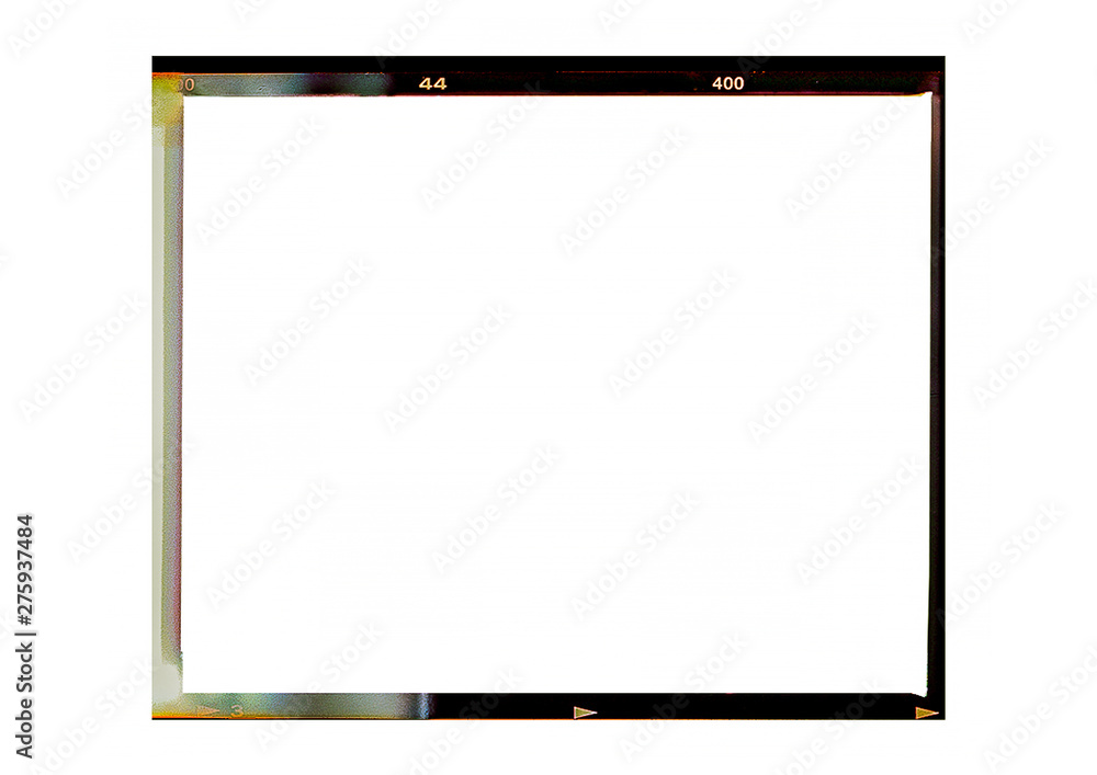 Fototapety, obrazy: Medium format color film frame.With white space.