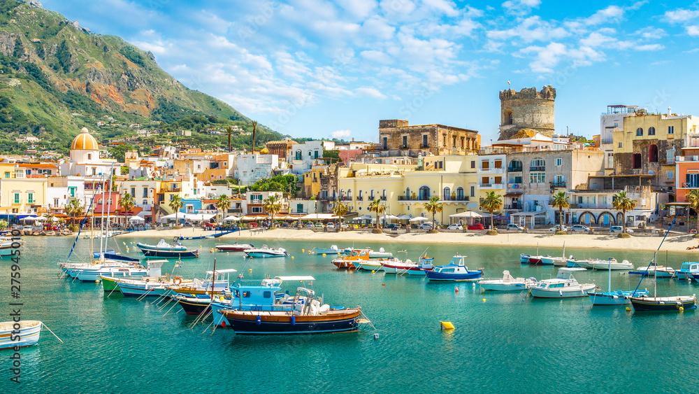Fototapety, obrazy: Landscape with Forio, Ischia island, Italy