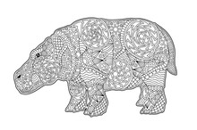 Art For Coloring Book Page Wit...