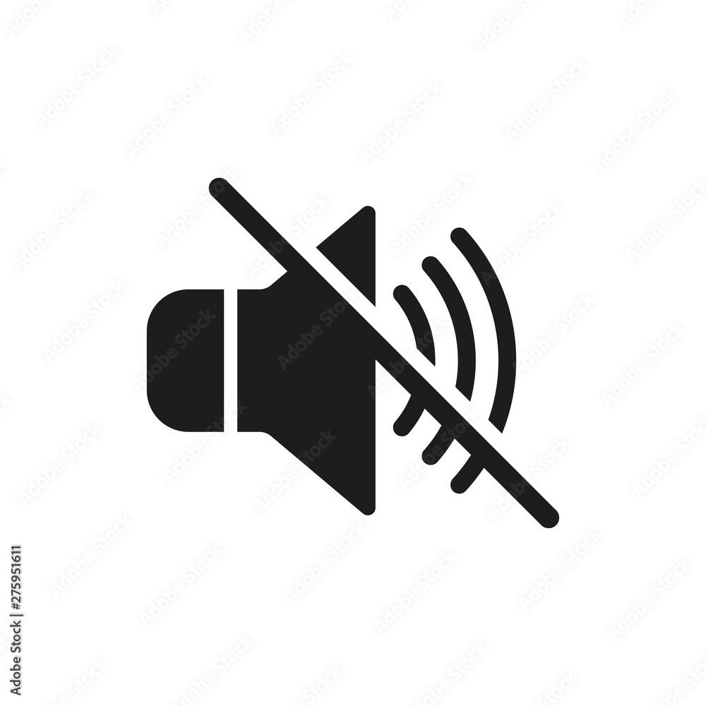 Fototapeta No sound icon. Vector. Isolated.