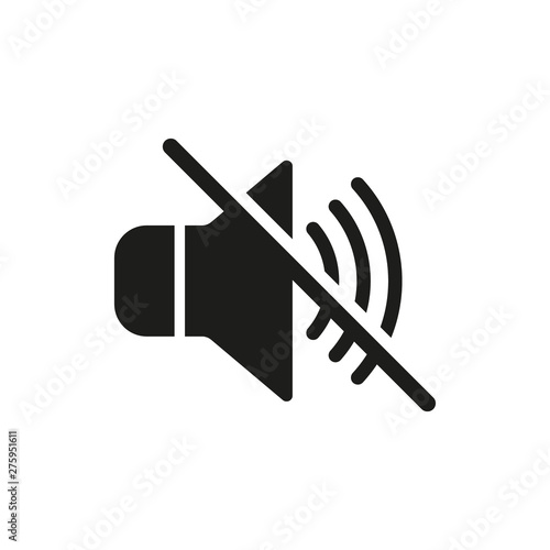 Valokuva No sound icon. Vector. Isolated.