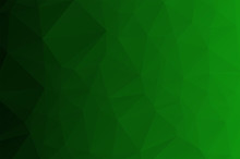 Dark Green Low Poly Crystal Background. Polygon Design Pattern. Environment Green Low Poly Vector Illustration, Low Polygon Background.