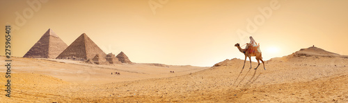 Obraz na plátně Desert and pyramids