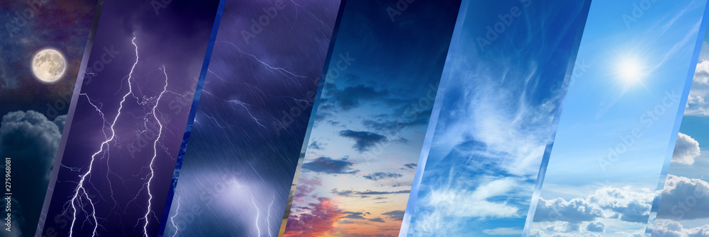 Fototapety, obrazy: Weather forecast concept, climate change background