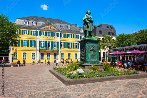 Beethoven monument in Bonn, Germany Canvas Print