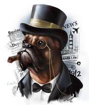 Digital Portrait Of A Red Dog ...