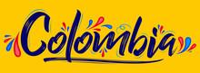 Colombia Patriotic Banner Desi...