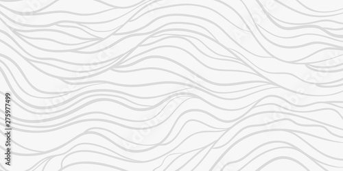 Wavy background. Monochrome backdrop with curved stripes. Repeating abstract waves. Stripe texture with many lines. Black and white illustration - 275977499