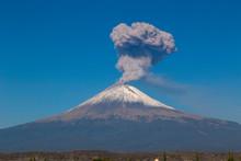 Active Popocatepetl Volcano In...