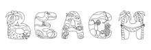 Doodle Coloring Page, Word: Be...
