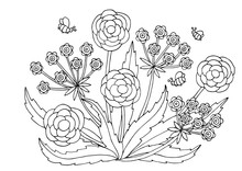 Hand Drawn Flower Patterns For Coloring Pages