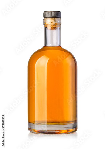 Photo whiskey bottle isolated