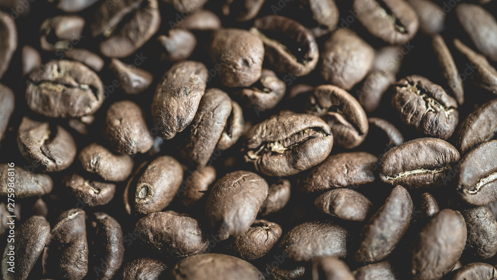 Fototapety, obrazy: Fresh Roasted Organic Coffee Beans