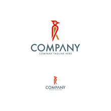 Creative Woodpecker Logo Desig...